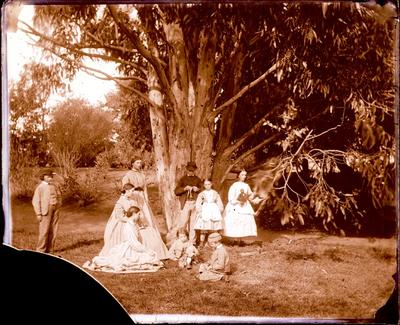 Glass Plate Negative: Group of Children
