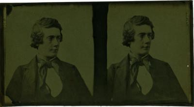 Glass Plate Positive Stereograph Slide: Young Man