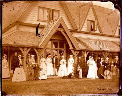 Glass Plate Negative: Wedding Group, Broomfield, Canterbury
