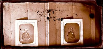 Glass Plate Negative Stereograph Slide: Man