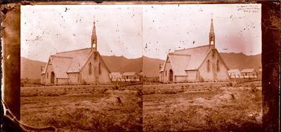 Glass Plate Negative Stereograph Slide: Saint John's Church