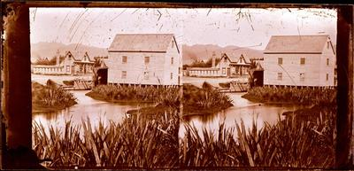 Glass Plate Negative Stereograph Slide: Inwood's Mill