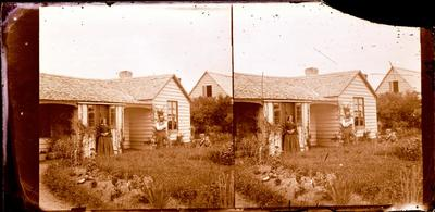 Glass Plate Negative Stereograph Slide: Cottage