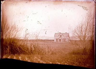 Glass Plate Negative: Papanui Parsonage, Canterbury