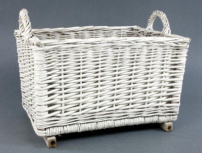 Basket: White painted