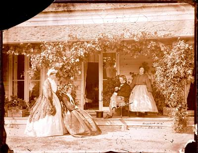 Glass Plate Negative: Judge Gresson and Family