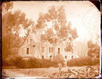 Glass Plate Negative: Stone House