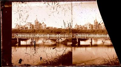 Glass Plate Negative Stereograph Slide: Provincial Buildings