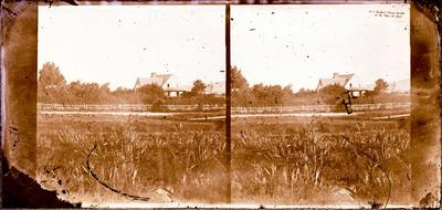 Glass Plate Negative Stereograph Slide: Alfred Charles Barker's House