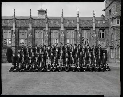Film negative: Christ's College, Julius House, large group of boys