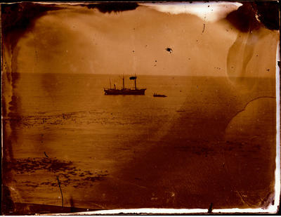 Glass Plate Negative: Ship