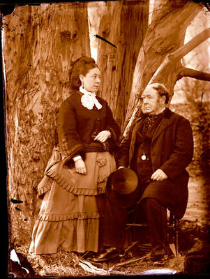 Glass Plate Negative: Captain Lawrence and Mrs Lawrence