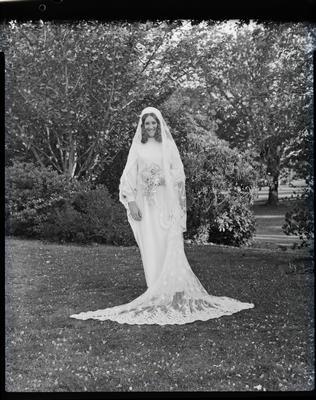 Film negative: Berry and Garlick wedding, bride