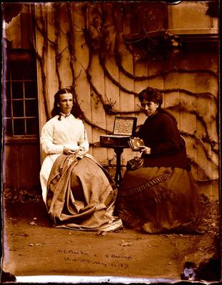 Glass Plate Negative: Mary Barker and Elizabeth Hewlings