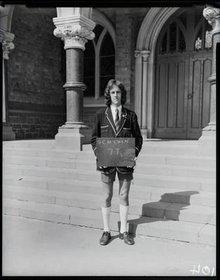 Film negative: Christchurch Boys High, Master G C McEwan from class 7T5