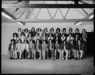 Film negative: Te Aranga Hostel, group of thirty-two