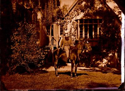 Glass Plate Negative: Walter Hood