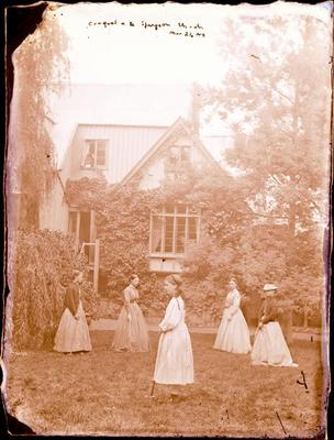 Glass Plate Negative: Croquet a la Spurgeon