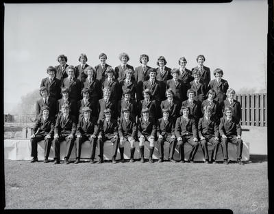 Film negative: St Bedes College, group of thirty-seven