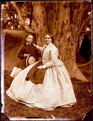 Glass Plate Negative: Woman and Girl