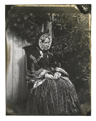Glass Plate Negative: Miss Ann Bowen