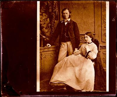 Glass Plate Negative: Charles and Georgina Bowen
