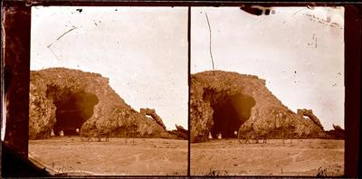 Glass Plate Negative: Cave Rock, Sumner