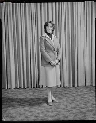 Film negative: Miss Woodhouse, air hostess