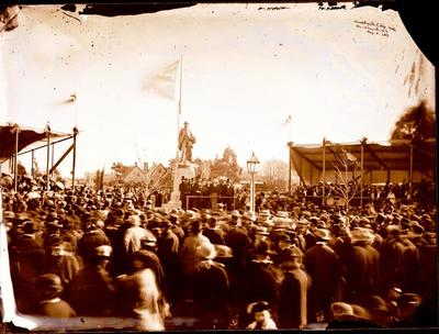 Glass Plate Negative: Unveiling the Godley Statue, Christchurch