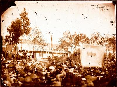 Glass Plate Negative: Arrival of Prince Alfred