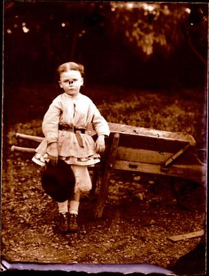 Glass Plate Negative: Small Child