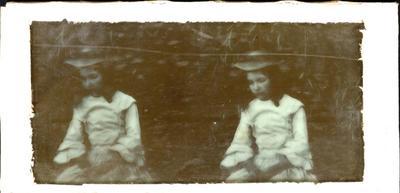 Glass Plate Positive Stereograph Slide: Elizabeth Barker