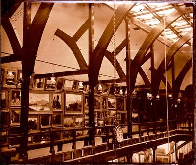 Glass Plate Negative: Art Exhibition