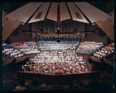 Film negative: Christchurch Schools Choir, Town Hall
