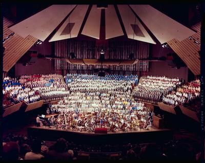 Film negative: Christchurch Schools Music Festival 1981, Town Hall
