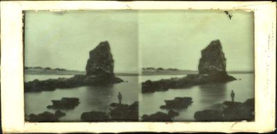 Glass Plate Positive Stereograph Slide: Shag Rock