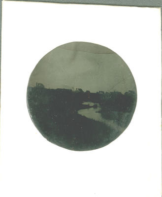 Glass Plate Ambrotype: River in front of Grammar School