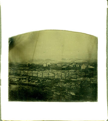 Glass Plate Ambrotype: Port Lyttelton Hills