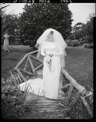 Film negative: Lowe and Fizpatrick wedding, bride
