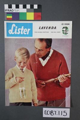 """booklet, knitting pattern:"""" Lister Lavenda C1204"""""""