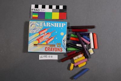 crayon box and crayons