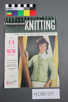 "magazine, knitting pattern:""Modern Knitting"", ""The Monthly Magazine for Machine Knitters"", Sept/Oct 1962 (New  Zealand edition)"