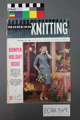 "magazine, knitting pattern: ""Modern Knitting.  The monthly magazine for machine knitters"", May/June 1961 (New Zealand edition)"