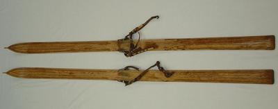 Pair of skis; 1901-1904; 2005.11.1