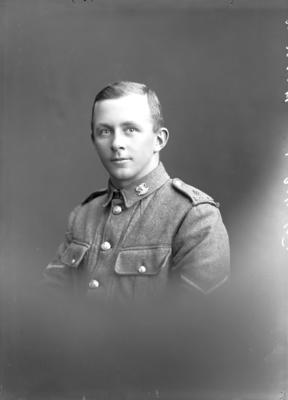 Glass Plate Negative: G Keetley. NZIR Canterbury Regiment