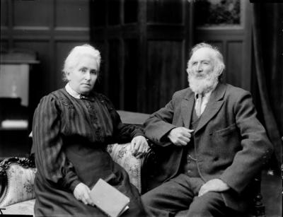 Glass Plate Negative: Mr and Mrs J E Ackroyd.