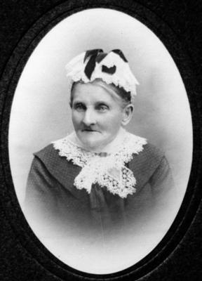 Glass Plate Negative: Mrs Mary Ann Midgley