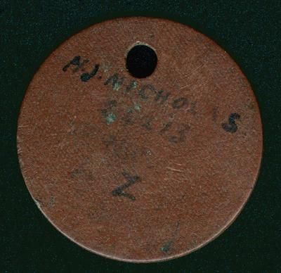 Identification tag, military