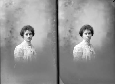 Glass Plate Negative: Miss A Chainey (twin negative)