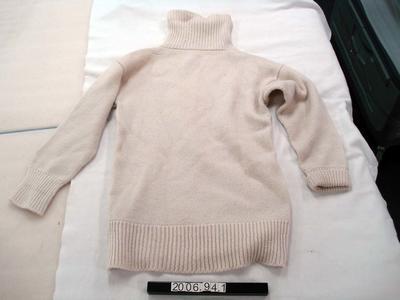 Jersey: Cream Woollen Polo Neck